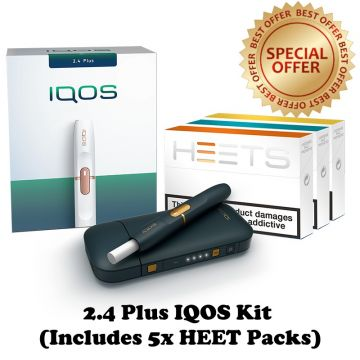 Navy IQOS 2.4 Plus Starter Kit with 5 Packs of HEETS