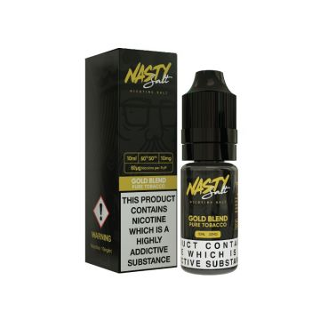 GOLD Blend Nic Salt E-Liquid by Nasty Salt 10ml