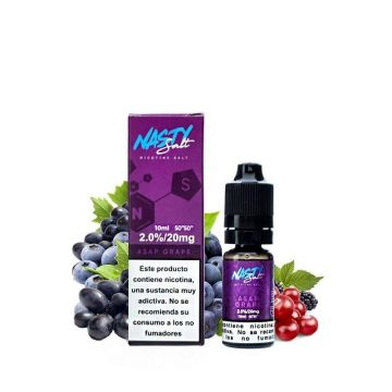 Asap Grape E-Liquid by Nasty Salt 10ml