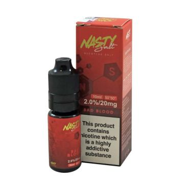 Bad Blood E-Liquid by Nasty Salt 10ml