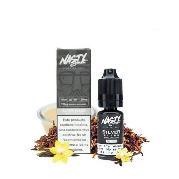 Silver Tobacco Nic Salt E-Liquid by Nasty Salt 10ml