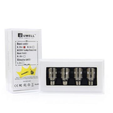 Uwell Crown Dual Coil Replacement Heads 4 Pack